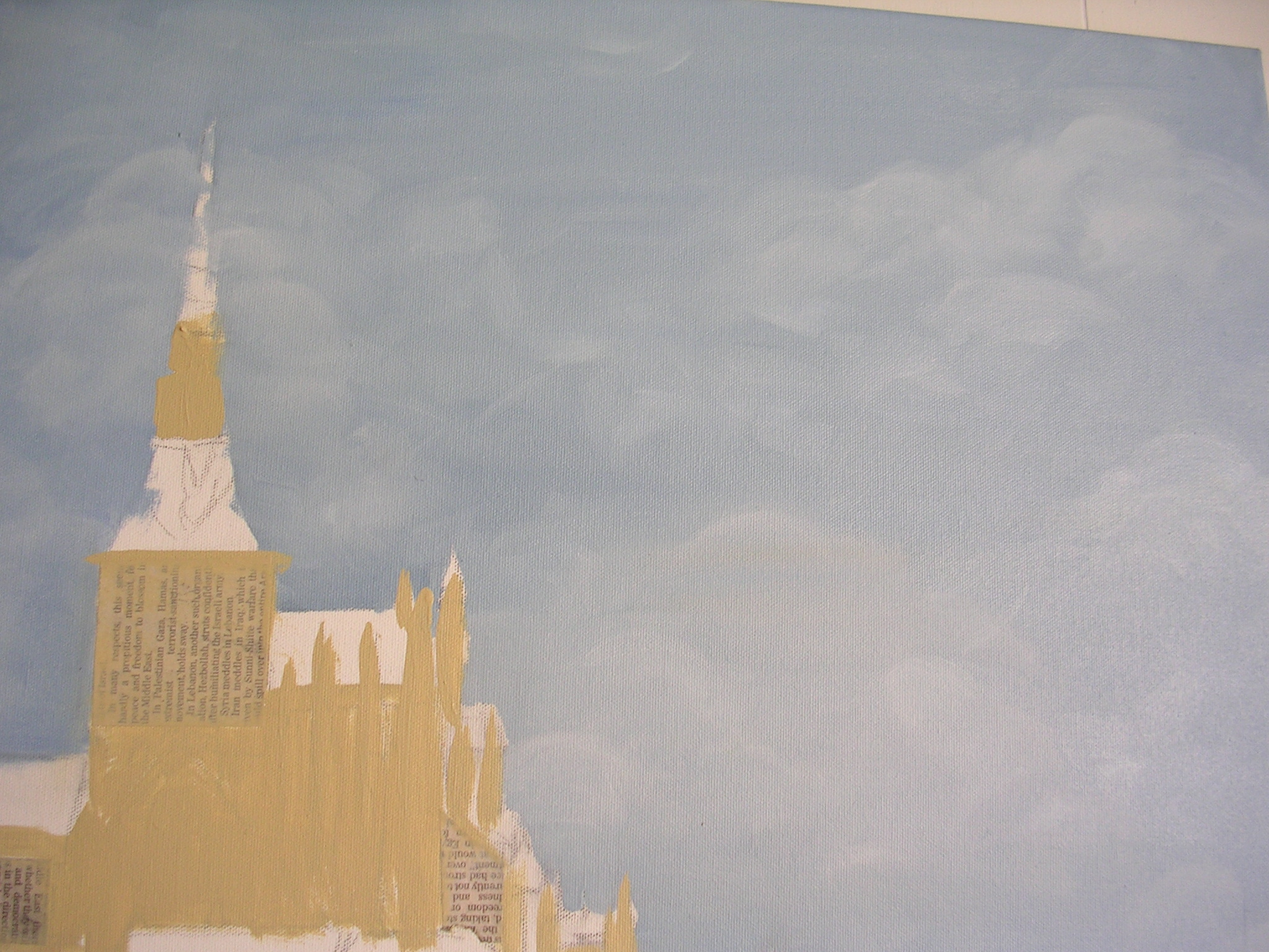 Whispy clouds in a painting I'm working on