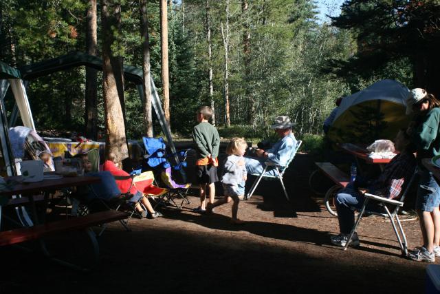 Haning out at camp