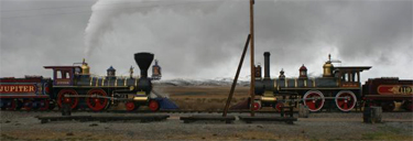 trains at golden spike monument