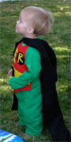 Abe as Robin