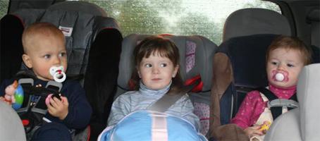 one backseat full of kids