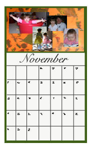calendar with our pics