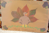 my turkey placemat