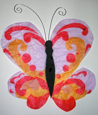 Finished butterfly