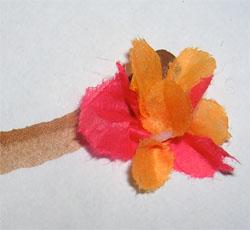 tissue paper blossom